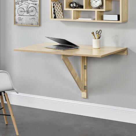 Mesa Montada en la pared - Abatible Plegable Mesa de cocina Escritorio 100 x 60 x 58 cm Color efecto de madera de haya