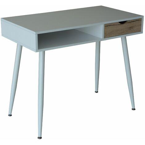Mesa oficina modelo COLLEGE color blanco y haya natural