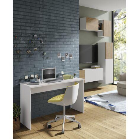 Mesa oficina o despacho Haley acabado blanco 77/89 cm(alto)131.5 cm(ancho)45 cm(fondo) Color Blanco