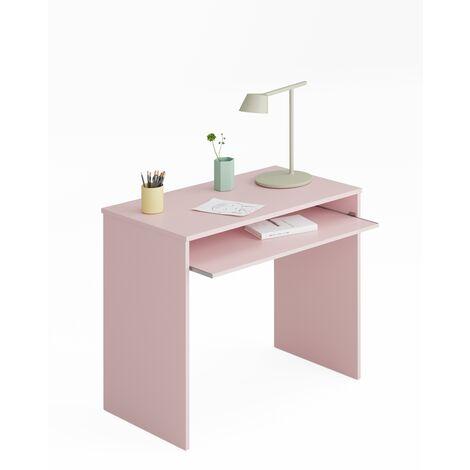 Mesa ordenador -Infantil- Rosa 79x90x54 cm