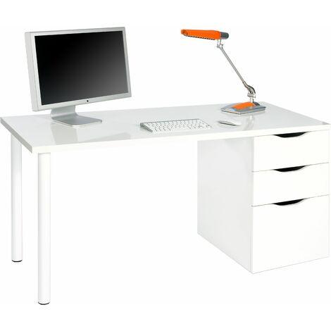 Mesa ordenador -reversible- Blanco Artik 138x74x60 cm