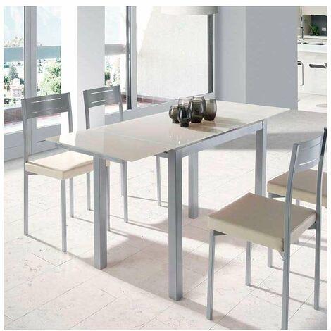 Mesa para cocina extensible dos colores a elegir 76.5 cm(alto) 95/155 cm(ancho)60 cm(fondo).