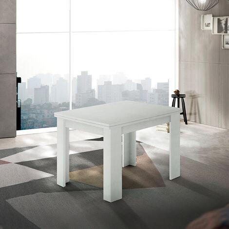 Mesa para comedor extensible de diseño madera blanca Jesi Liber Wood