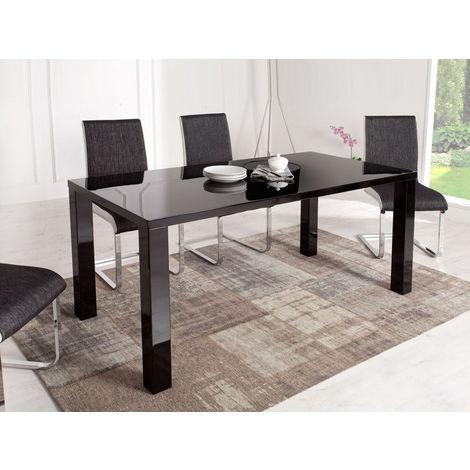 Mesa para comedor Luna en MDF lacado - Negro - 1281_69900