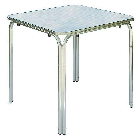 Mesa para exterior 70x70 cm de aluminio | aluminio