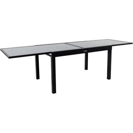 Mesa para jardín extensible en aluminio Porto 10 - Phoenix - Negro