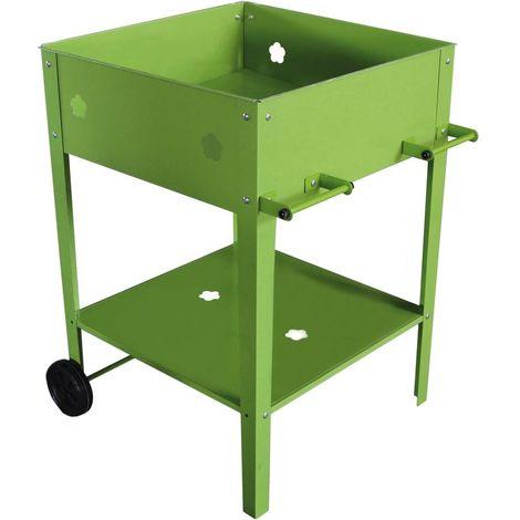 Mesa para macetas Laurier - 55 x 55 x 80 cm - Verde