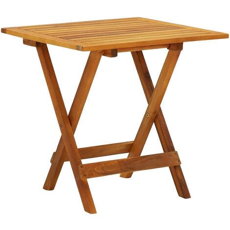 Mesa para terraza bistro madera maciza de acacia 46x46x47 cm