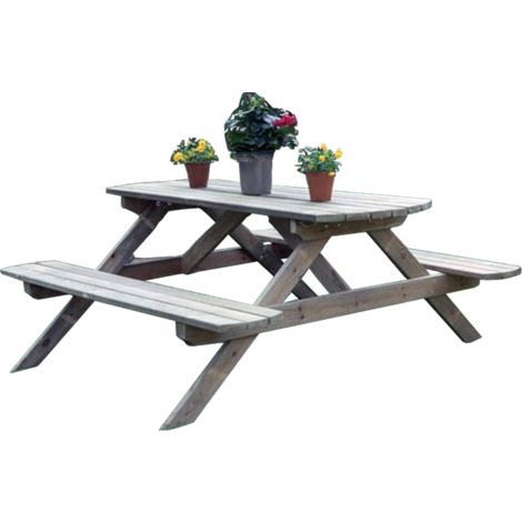 mesa de pino de picnic
