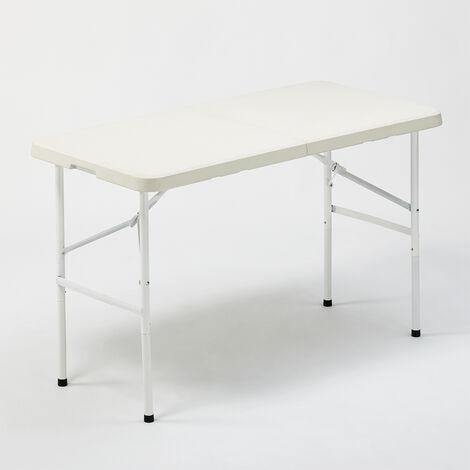 Mesa plegable 122x60 para jardín y camping rectangular PELVOUX