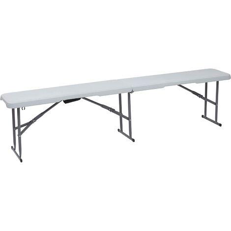 Mesa plegable 180 x 28 x 43 color blanco