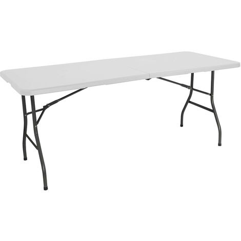 Mesa Plegable 180cm Rectangular Blanca Catering GH91