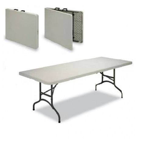 Mesa plegable 210cm tipo maleta polietileno eventos mpl1092022-DESKandSIT-210x90 cm 210x90 cm