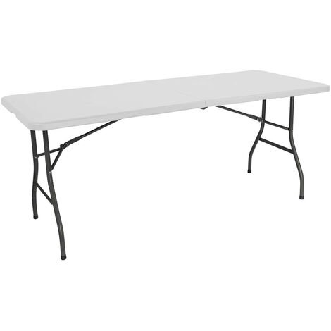Mesa Plegable 240cm Rectangular Blanca Catering GH91