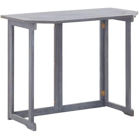 Mesa plegable de balcon madera de acacia maciza 90x50x74 cm