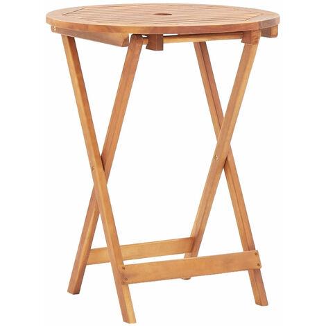 Mesa plegable de jardin de madera maciza de acacia 60x75 cm
