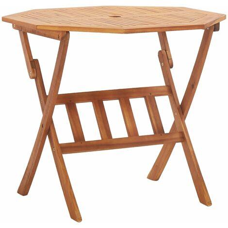 Mesa plegable de jardin de madera maciza de acacia 90x75 cm