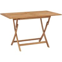 Mesa plegable de jardín madera maciza de teca 120x70x75 cm