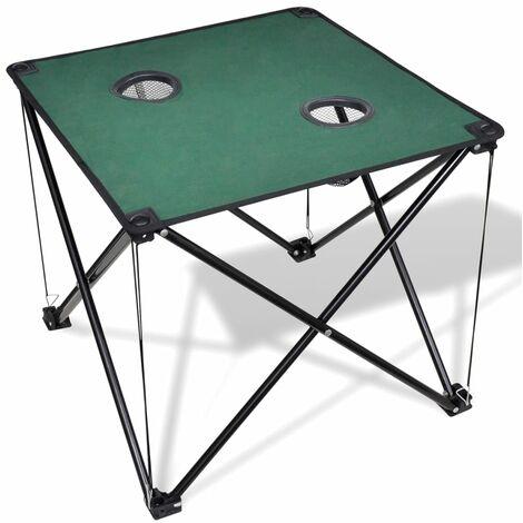Mesa plegable para camping, color verde oscuro - Verde