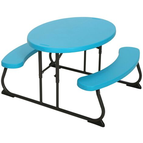Mesa plegable picnic ultrarresistente infantil lifetime 85,5x100x53 cm uv100