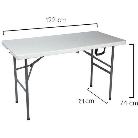 Mesa Plegable Rectangular 122 x 61 x 74 cm