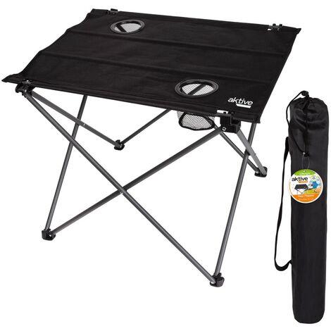 Mesa plegable textil para camping 61x53x51 cm Aktive Camping