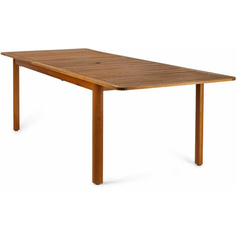 Mesa rectangular extensible de jardín Hawksworth madera de eucalipto FSC y aluminio 180-240 x 100 x 75 cm - 50021001170156