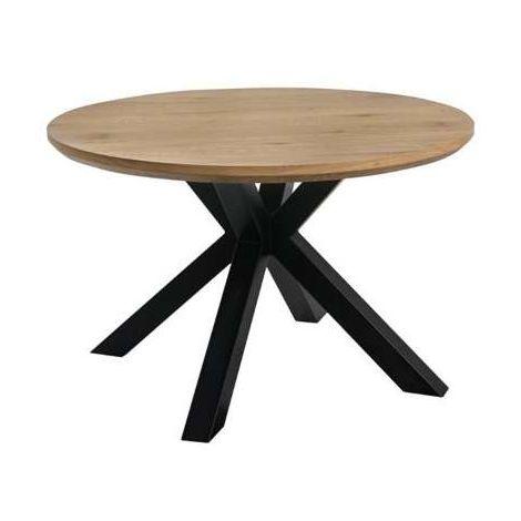 Mesa redonda Mistral con patas metálicas negras Color Negro