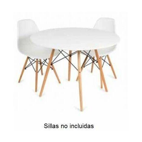 Mesa redonda para niños en blanco modelo Vandyk Kid Color Blanco
