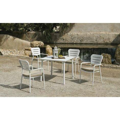 Mesa terraza jardín Andros-909 aluminio 75 cm(alto) 90 cm(ancho)90 cm(fondo)