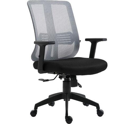 Mesh Back Executive Office Chair Swivel Desk Chair with Synchro-Tilt, Adjustable Armrest & Headrest