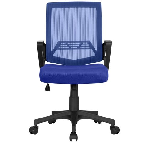 Mesh Chair Ergonomic Office Chair Height Adjustable Computer Chair Mid-Back with Comfort Breathable Lumbar Support