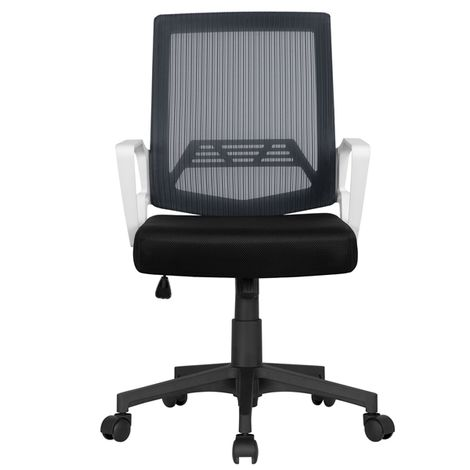 Mesh Chair Ergonomic Office Chair Height Adjustable Computer Chair Mid-Back with Comfort Breathable Lumbar Support Grey