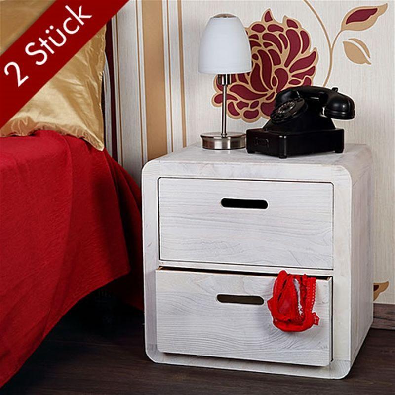 Mucola - Aparador Mesita de noche mesa de noche armario de noche set de 2 Blanco mesa auxiliar consola de noche armario de noche cómoda noche