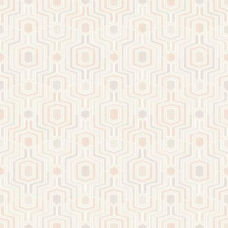 Meso Pink Geometric Wallpaper