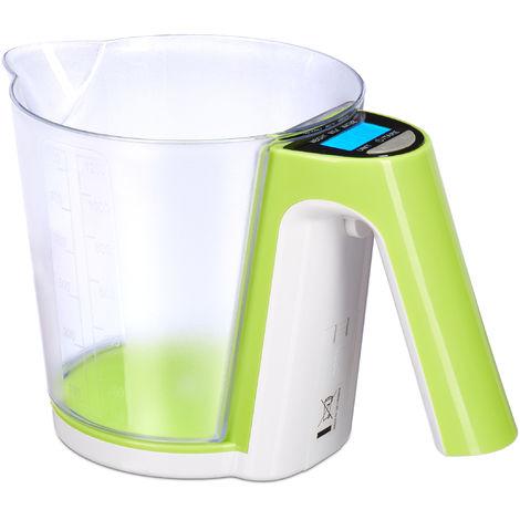 Digitale Küchenwaage in Grün bis 5kg Waage Apfelgrün