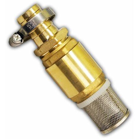 Messing Fußventil Saugfilter 1 Zoll 25 mm Saugkorb Rückschlagventil Saugschlauch