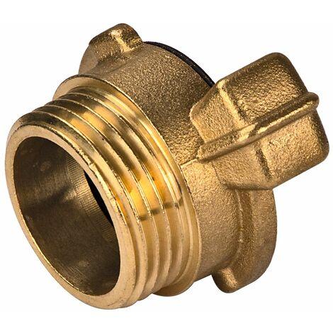 Messing Gewindestück 1 Zoll AG 33,3mm Schlauchstück Hahnverbinder GK Kupplung