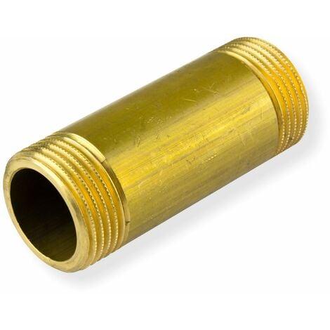 Messing Rohrdoppelnippel 1 Zoll x 80mm DN25 Langnippel Rohrnippel Gewindenippel