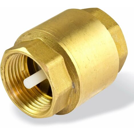 Messing Rückschlagventil 1 Zoll DN25 Rückstauklappe Rückflussverhinderer Pumpe