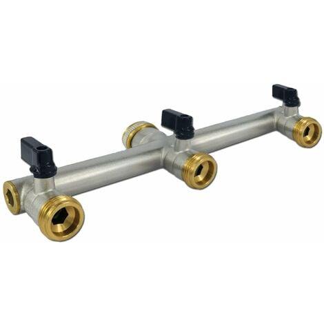 Messing Wasserverteiler 3 fach 3/4 Zoll 3 Wege Verteiler Wasser
