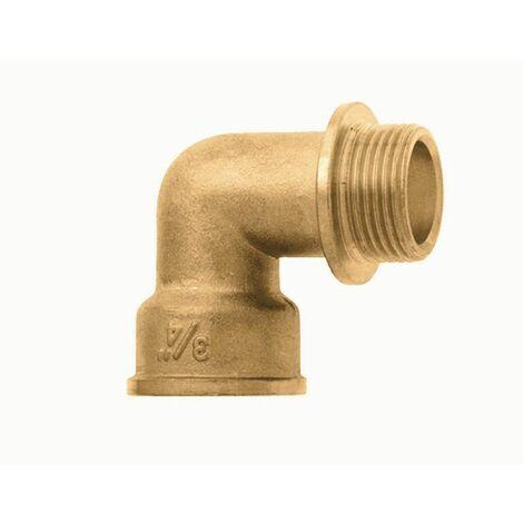Messing Winkel 90° 32mm Rohrsystem Heizung Fittings Befestigungen Heimwerker NEU