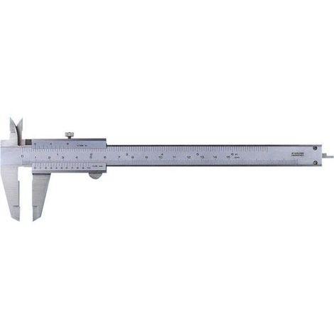 Messschieber, Mb 100 mm, Festellschraube oben, mm/inch