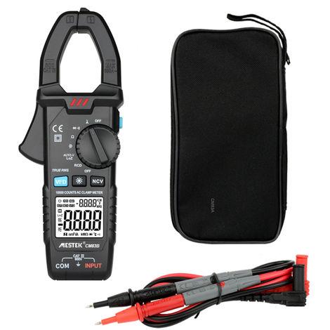 Mestek Pince Numerique 600A Courant Alternatif 600V Ac / Dc Tension Puissance De Mesure De Maintien Des Donnees Retro-Eclairage Ncv Tester Multimetre, Cm83B