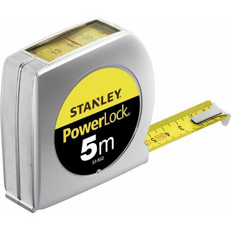 Mesure Powerlock - Lecture Directe - 5 m x 19 mm - STANLEY, 0-33-932