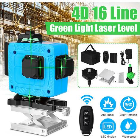 Mesure rotative automatique de la croix 360 ° de nivellement automatique de lumière verte de niveau laser de la 16 ligne 4D