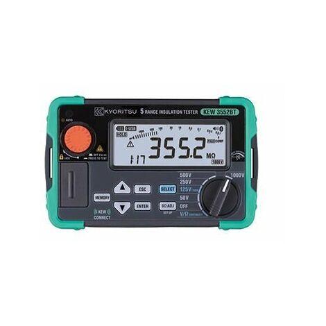 Mesureur d'isolement numérique 50/100/125/250/500/1000V - Mémoire - Bluetooth
