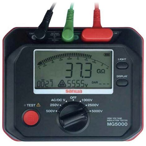 Mesureur disolement Sanwa Electric Instrument MG5000 9998404095 250 V, 500 V, 1000 V, 2500 V, 5000 V 1 T 1 pc(s)