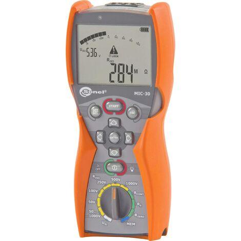 Mesureur d\'isolement Sonel MIC-30 WMGBMIC30 Etalonnage (ISO) 50 V, 100 V, 250 V, 500 V, 1000 V 100 GΩ 1 pc(s) W540621