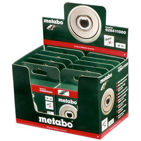 Metabo 10 écrous de serrage Quick M 14/ présentoir - 626411000